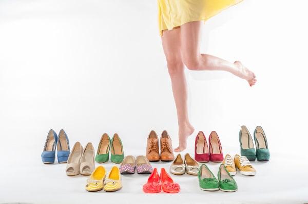 uso prolongado de sandalias